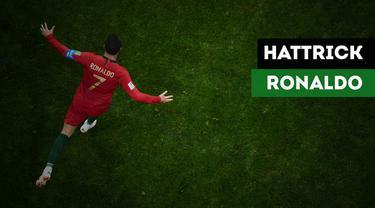 Fakta menarik apakah yang muncul setelah Cristiano Ronaldo mencetak hattrick ke gawang Spanyol?