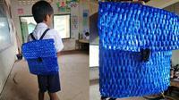 Tas sekolah berbahan tali rafia (Sumber: Facebook/Sophous Suon)