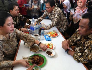 Usai Keliling Kompleks Parlemen, Puan Maharani Makan Tongseng di Kantin DPR