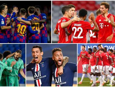 Daftar Klub Paling Tajir di Dunia Tahun 2020, Barcelona Gusur Real Madrid