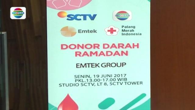 EMTEK Group bekerja sama dengan Palang Merah Indonesia,  Kabupaten Tangerang, menggelar kegiatan sosial donor darah Ramadan.
