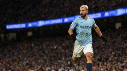 2. Sergio Aguero (Man City) - 17 gol dan 6 assist (AFP/Paul Ellis)