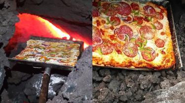 Unik Sekaligus Kreatif, Pria Ini Gunakan Lava Gunung Api Untuk Memanggang Pizza