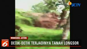 Video Rekaman Detik-Detik Longsor Terjadi di Lereng Bukit Wonosobo