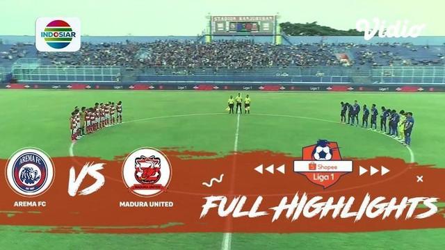 Berita video highlights Shopee Liga 1 2019, Arema FC vs Madura United yang berakhir dengan skor 2-0 di Stadion Kanjuruhan, Kepanjen, Kab. Malang, Jumat (8/11/2019).