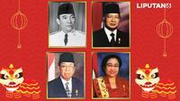 Banner Riwayat Imlek di Indonesia (Liputan6.com/Triyasni)