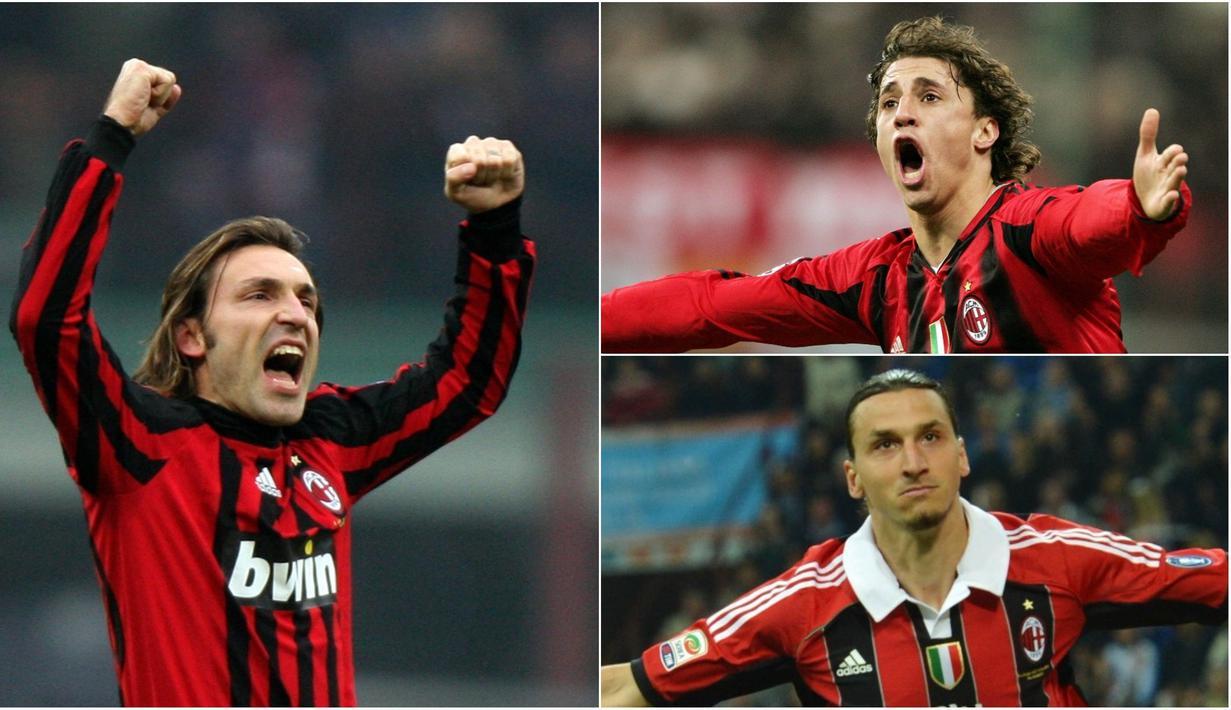 Banyak sisi menarik yang patut diperbincangkan jelang Derbi Della Madonnina, salah satunya banyak pemain potensial yang dilepas Inter Milan justru bersinar saat bermain di klub rival AC Milan. (Kolase foto-foto AFP)