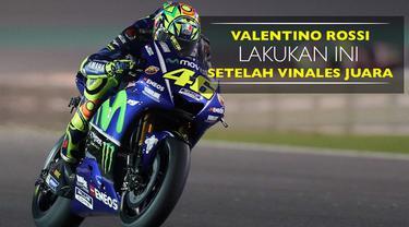 Berita video aksi Valentino Rossi setelah Maverick Vinales memastikan diri juara di MotoGP Qatar pada Minggu (26/3/2017). Apa aksinya?