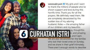 Istri Kobe Bryant, Vanessa Bryant buka suara soal kematian suami dan anaknya.