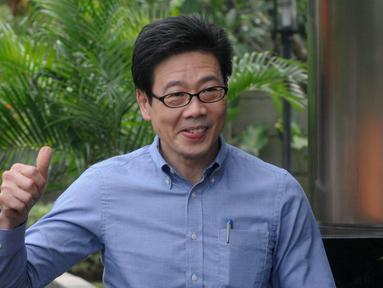 Pemilik perusahaan PT Borneo Lumbung Energi dan Metal Tbk Samin Tan tiba di Gedung KPK, Jakarta, Kamis (28/3). Samin diperiksa sebagai tersangka terkait dugaan suap pengurusan terminasi kontrak Perjanjian Karya Pengusahaan Pertambangan Batubara PT AKT di Kementerian ESDM. (merdeka.com/Dwi Narwoko)
