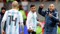 Pelatih timnas Argentina, Jorge Sampaoli. (AP/Ivan Sekretarev)