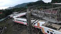 Kereta anjlok di Taiwan, 18 orang tewas, dan lebih dari 180 orang terluka (AFP)