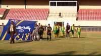 Babak kualifikasi PON Zona Papua di Stadion Mandala Jayapura kembali diwarnai aksi WO. Setelah Maluku mogok main, giliran Papua Barat mundur dari ajang itu. (Bola.com/Robby Firly)