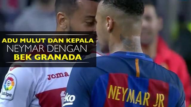 Video insiden adu mulut dan kepala Neymar dengan bek Granada, Ruben Vezo, saat Barcelona menang 1-0 di La Liga.