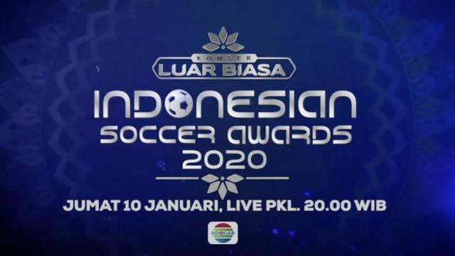 Berita video Indonesian Soccer Awards akan disiarkan secara langsung Indosiar pada Jumat (10/1/2020). Pillih gol dan pemain favoritmu di Indonesian Soccer Awards.