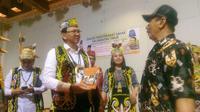 Ahok saat menggelar silaturahmi dengan masyarakat Dayak, Samarinda,Kalimanta Timur, Minggu (14/7/2019).