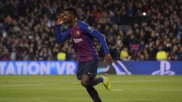 2. Ousmane Dembele – Kemenangan Barcelona atas Leganes haruus dibayar mahal dengan cedera nya Ousmane Dembele. Cedera engkel membuatnya absen setidaknya dua pekan kedepan. (AFP/Josep Lago)