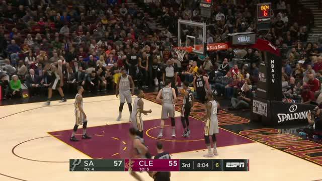 Berita video game recap NBA 2017-2018 antara San Antonio Spurs melawan Cleveland Cavaliers dengan skor 110-94.