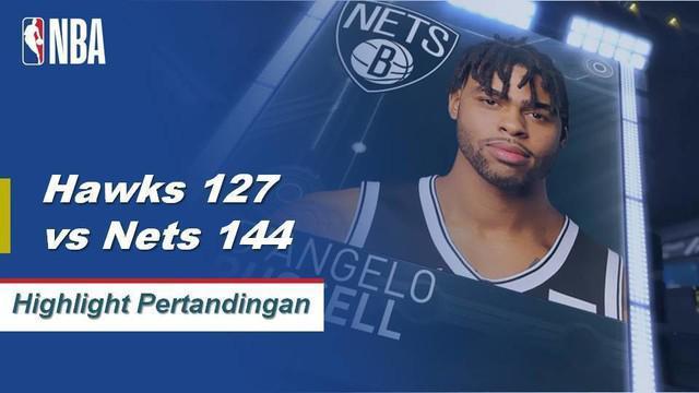 D'Angelo Russel mengontrol permainan dengan 32 poin, 7 assist dan 6 rebound di Brooklyn's