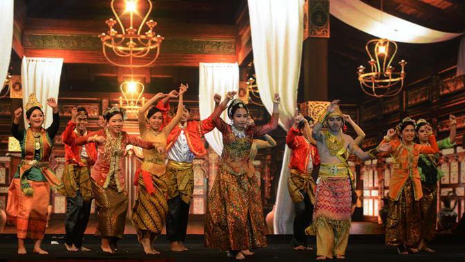 Pertunjukan drama musikal Gema Bumi Palapa. (Istimewa)