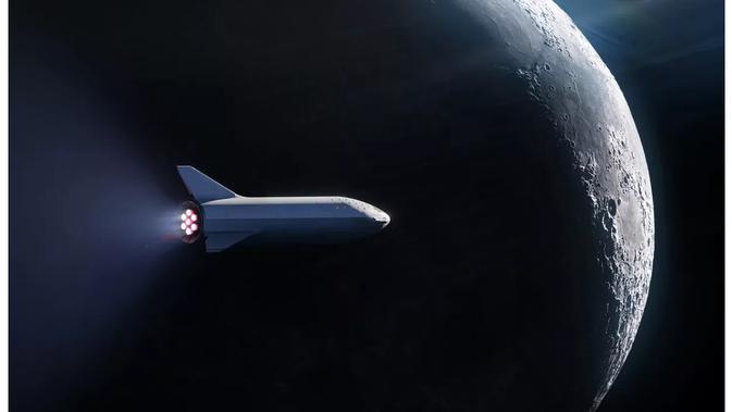Ilustrasi perjalanan ke luar angkasa SpaceX (Foto: SpaceX)