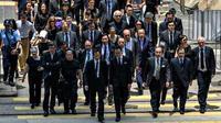 Pengacara Hong Kong bergabung dalam gerakan massa pro demokrasi, menolak RUU Ekstradisi kontroversial dan menekan agar pemerintah lokal menjaga independensi peradilan (AFP PHOTO / Philip Fong)