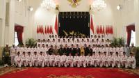 Pasukan Pengibar Bendera Pusaka (Paskibraka) yang akan bertugas pada upacara HUT ke-73 Republik Indonesia sudah tiba di Istana. (Foto: Liputan6.com/M Fajri Erdyansyah)