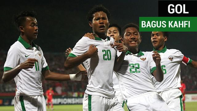 Berita video gol-gol penyerang Timnas Indonesia U-16, Bagus Kahfi, pada 3 pertandingan Piala AFF U-16 2018.
