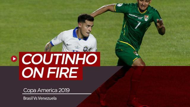 Berita Video Brasil Andalkan Coutinho Saat Hadapi Venezeula di Copa America 2019