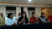 Dinkes DKI menggelar konferensi pers soal kasus Debora. (Liputan6.com/Fachrur Rozie)