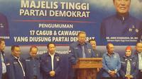 SBY mengumumkan bakal calon gubernur dan wakil gubernur yang akan pertarung dalam Pilkada Serentak 2018. (Liputan6.com/Putu Merta)