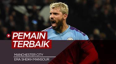 Berita motion grafis 5 pemain termahal Manchester City di era Sheikh Mansour, salah satunya Sergio Aguero.