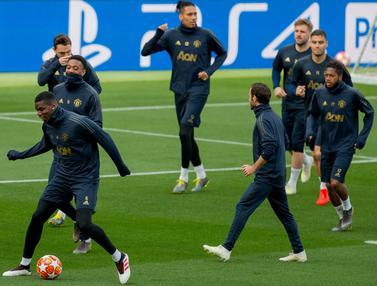Mengintip Latihan Pogba Cs Jelang Hadapi Barcelona