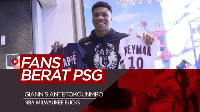 Berita Video Bahagianya Bintang NBA Giannis Antetokounmpo Saat Berkunjung ke Markas PSG