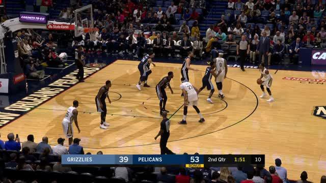 Berita video game recap NBA 2017-2018 antara New Orleans Pelicans melawan Memphis Grizzlies dengan skor 111-104.