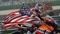 Mantan pebalap MotoGP, Nicky Hayden. (AP Photo/Bernat Armangue)