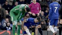 Kapten Chelsea, Gary Cahill, menderita cedera hamstring. (AP Photo/Matt Dunham)