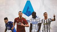 Serie A - Papu Gomez, Zlatan Ibrahimovic, Romelu Lukaku, Cristiano Ronaldo (Bola.com/Adreanus Titus)