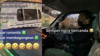 Viral aksi wanita bahagia dijemput pakai pickup di mal. (Sumber: TikTok/@intan_wijayani)