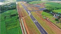 Pembangunan Bandara Jenderal Besar Soedirman Purbalingga mencapai 83,83 persen per 10 Januari 2021. (Foto: Liputan6.com/Rudal Afgani Dirgantara)