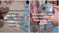 Wanita ini bantu pacarnya bikin buket uang Rp 40 juta yang ternyata untuk dirinya. (Sumber: TikTok/@andryleonaire)