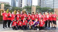 Para mantan atlet legendaris Indonesia atau Olympians gelar Fun Walk dan Halal bi Halal untuk semangati masyarakat giat berolahraga (istimewa)