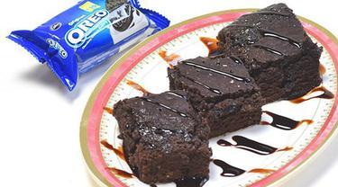 Resep Cara Membuat Brownies Oreo 3 Bahan Super Mudah Dan