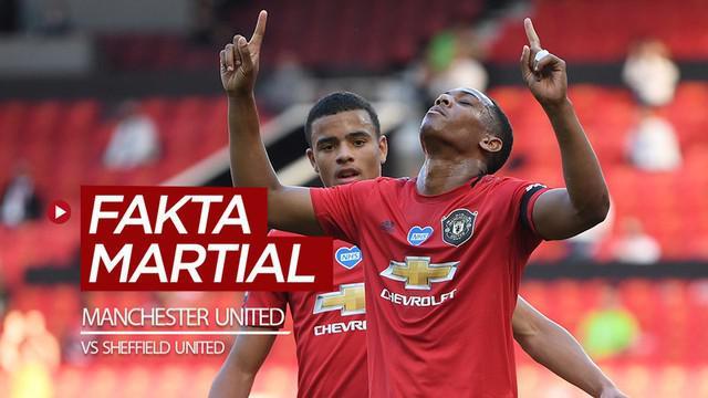 Berita video fakta-fakta menarik terkait Anthony Martial saat Manchester United menang 3-0 kontra Sheffield United pada pekan ke-31 Premier League 2019-2020, Kamis (25/6/2020) dini hari WIB.