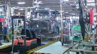 Proses produksi Toyota Sienta (Foto: Yongki Sanjaya/Liputan6.com)