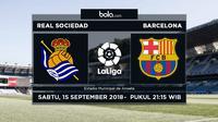La Liga 2018-2019 Real Sociedad Vs Barcelona (Bola.com/Adreanus Titus)