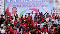 Kejuaraan paralayang bertajuk Paragliding Trip of Indonesia (TROI)  seri satu di Batang berlangsung sukses (dok: Kemenpora)