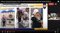 UGM Kembangkan Alat Deteksi Covid-19 lewat Embusan napas. Kredit: Kanal YouTube Kemenristek /BRIN