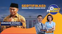 Live Streaming Eksklusif Bersama Menko PMK Muhadjir Effendy di Direct Message. sumberfoto: Vidio