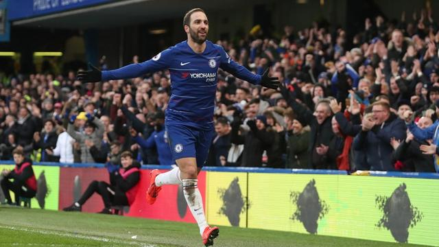 Penyerang Chelsea, Gonzalo Higuain.
